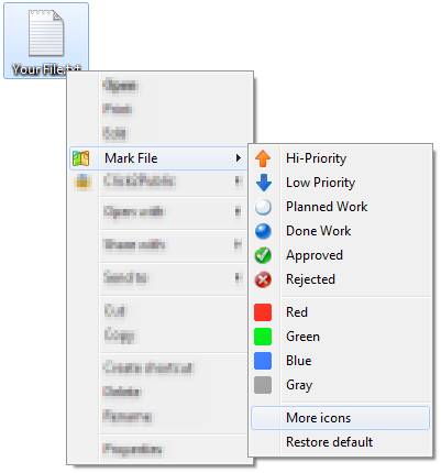 """Mark File"" menu will appear for any file in your system after installing of FileMarker.NET"